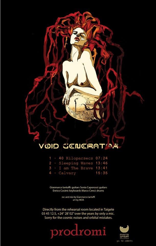 "Void Generator, ""Prodromi"" (Phonosphera Records 2017): quando l'heavy psych raggiunge ilCosmo"